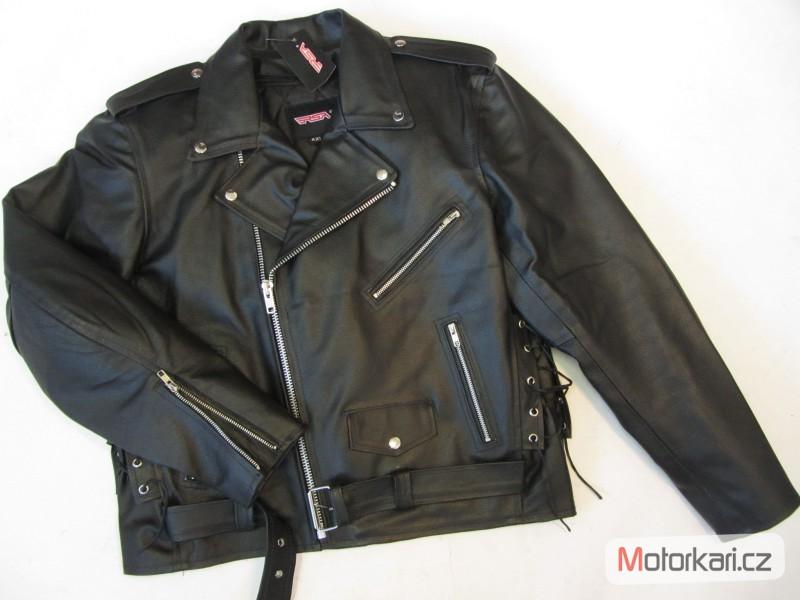 Detailní foto č.1 Křivák - kožená bunda na motorku RSA ... 2733b5ba8a