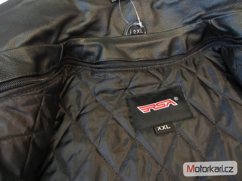 6ceaa0e7ed4a ... Detailní foto č.6 Křivák - kožená bunda na motorku RSA ...