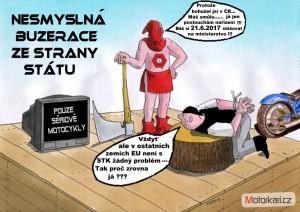 Spoleèný odjezd na Demonstraci proti buzeraci na STK