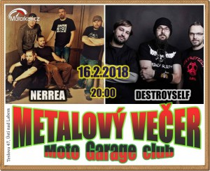Metalový veèer - kapely Nerrea a Destroyself
