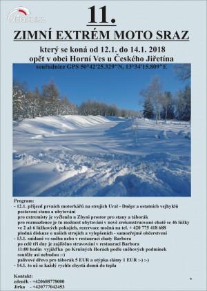 11. zimní extrém MOTO SRAZ 2018
