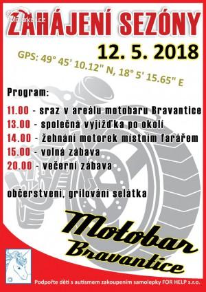 Žehnání motorek a zahájení sezony Motobaru Bravantice