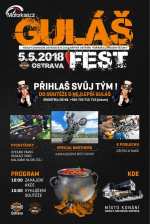 Guláš Fest Harley-Davidson-Ostrava