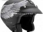Otevøená pøilba na moto Nexx X 60 Eagle Rider èerno-støíbrná