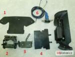 Držák - nádrž, kryt, zásuvka 12V