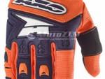 Motokrosové rukavice AXO Padlock modro-oranžové