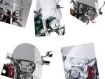 Univerzální plexi štíty pro choppery 4 druhy