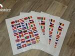Vlajky státù Evropy na moto kufry (arch)