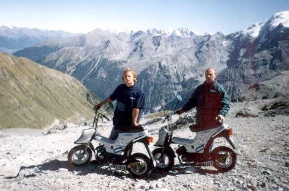 Moravsk� minimotocykly na st�e�e Evropy