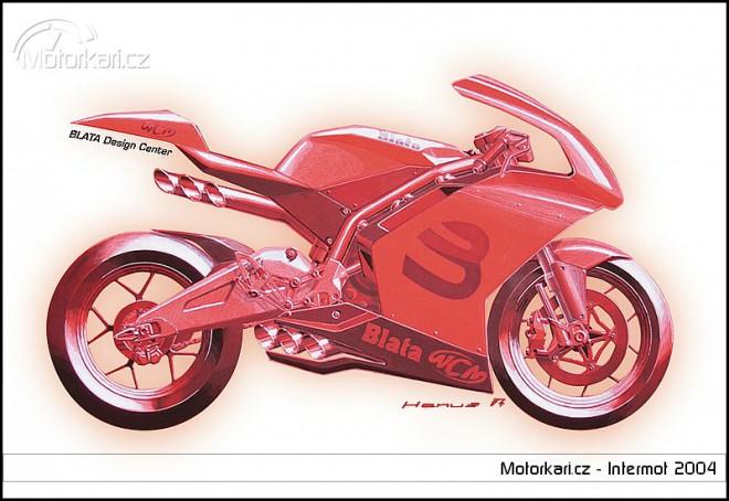 Debut motocyklu Blata V6 na dom�c� Velk� cen� v Brn�
