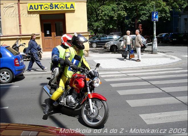 Øidièák na motorku - jízdy