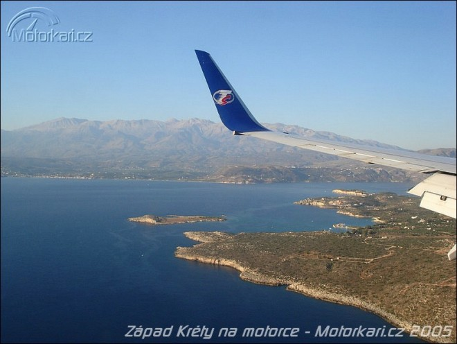 Západ Kréty na motorce