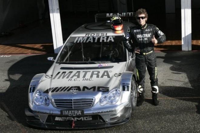 Valentino Rossi v automobilu DTM