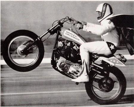 Evel Knievel a Harley Davidson XR 750