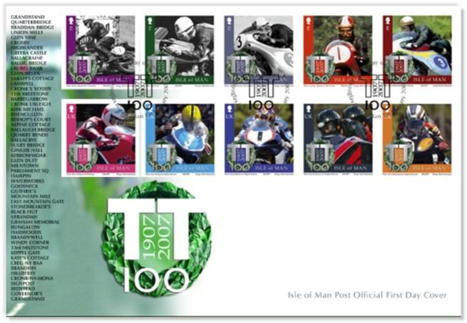 Kolekce poštovních známek k stému výroèí TT