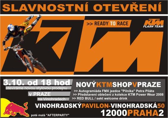 Nový stylový obchod KTM v Praze