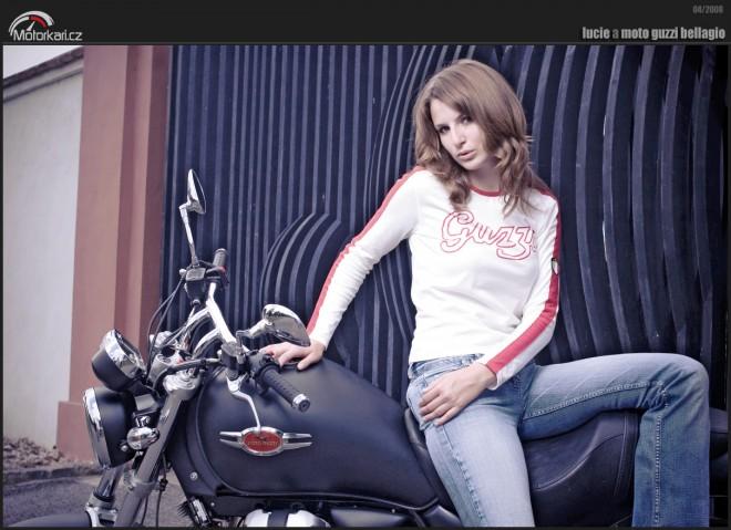 Lucie a Moto Guzzi Bellagio