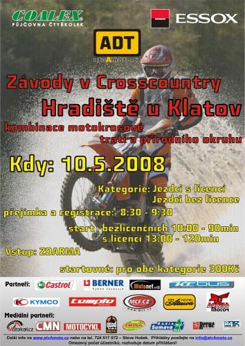 Závody motorek v cross country – Hradištì u Klatov