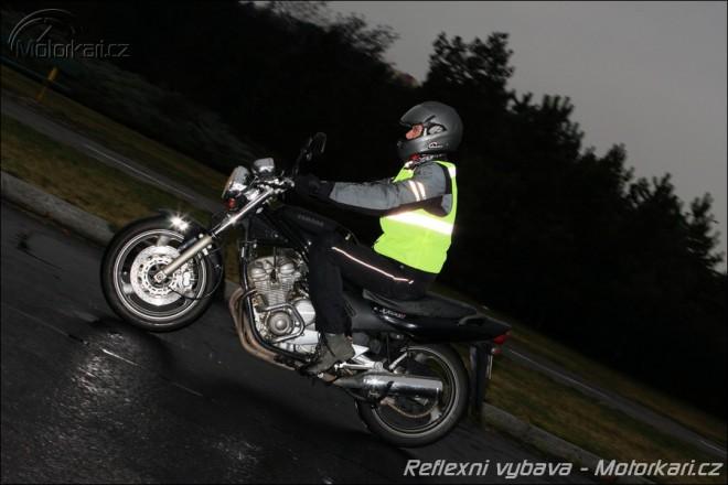 Reflexní doplòky na motocyklu