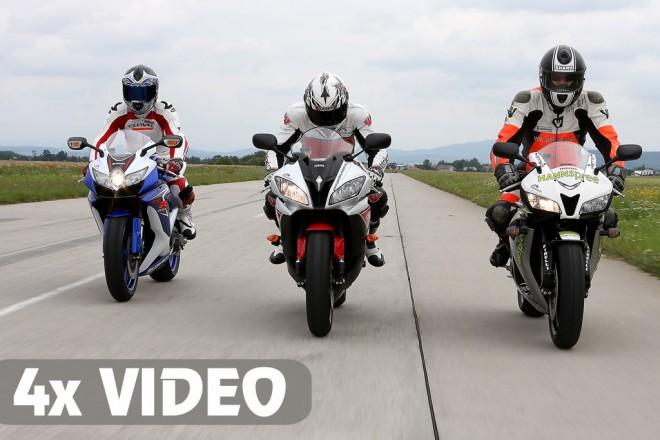 Honda CBR600RR vs Suzuki GSX-R 600 vs Yamaha YZF-R6