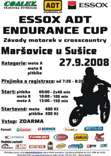 Pozvánka na závody motorek v cross country