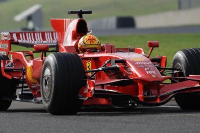 Vale testoval Ferrari