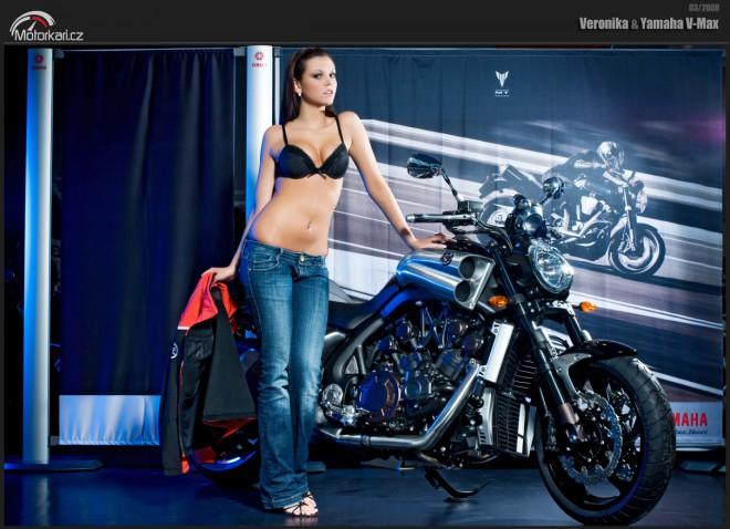 Veronika a Yamaha V-Max