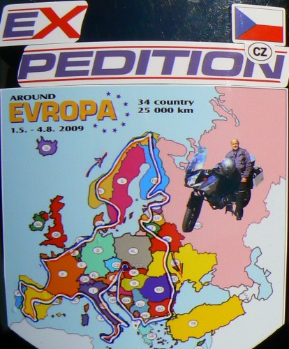 Na motorce kolem Evropy