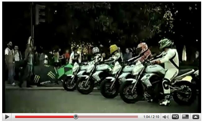 Španìlská reklama Kawasaki