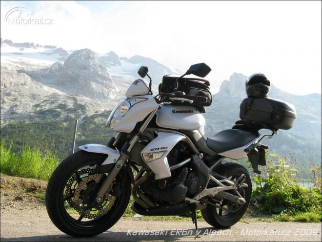 Kawasaki ER-6n v Alpách - pøíprava