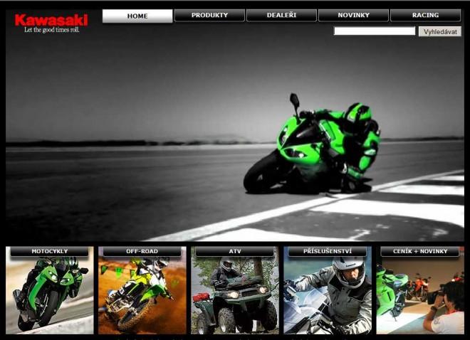 Nový web Kawasaki ÈR
