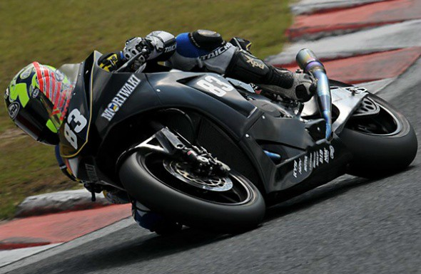 Motocykl Moriwaki kubatury Moto2 vyhrál v Okayamì