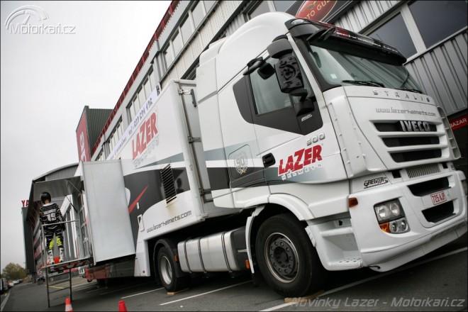 Kamion plný Lazeru