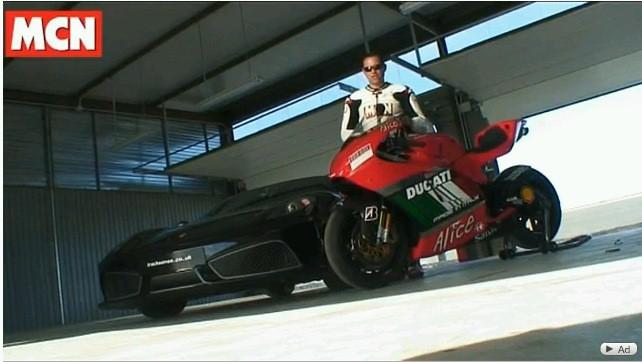Ducati Desmosedici RR vs Ferrari 430 Scuderia