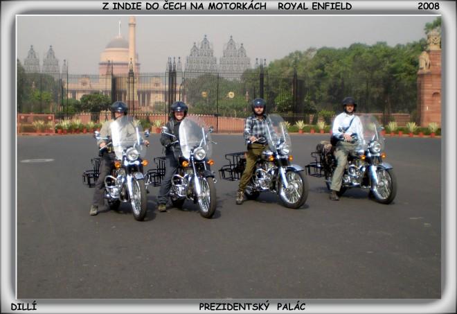 Z Indie do �ech na motork�ch Royal Enfield