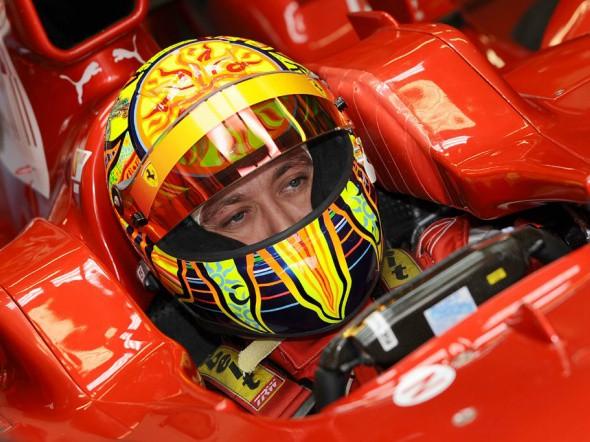 Rossiho první den testování ve F1