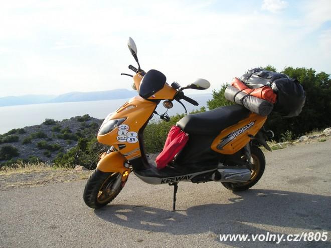 Skútrem do Chorvatska