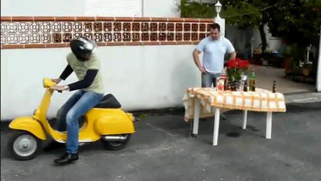 Trik s ubrusem v italském podání