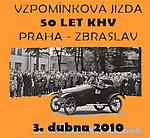 Veterán sraz - 50 let KHV na trase Praha - Zbraslav