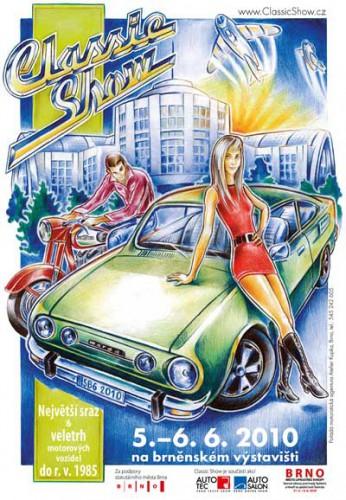 """Veterán sraz - Classic Show Brno 2010 """"Zlatá 60. a 70. léta"""""""