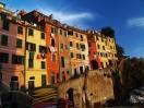 Riomaggiore v západu slunce