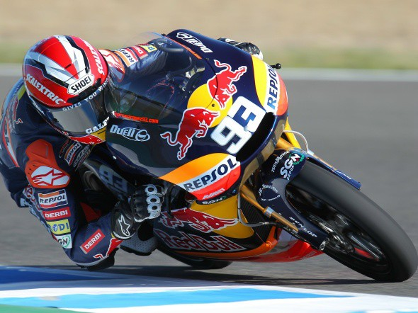 125 ccm: Marquez m� vyklouben� rameno