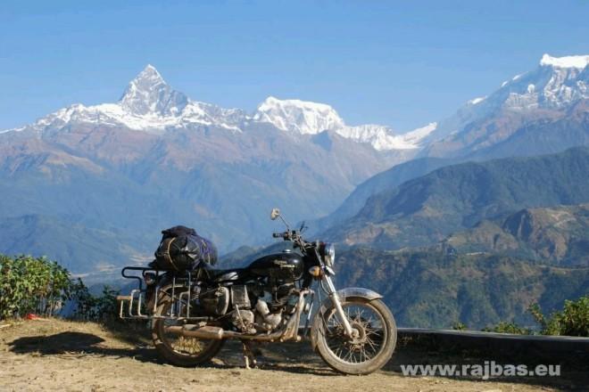 Nepál na motorce