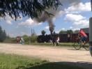 Parní vlak v Nové Bystøici