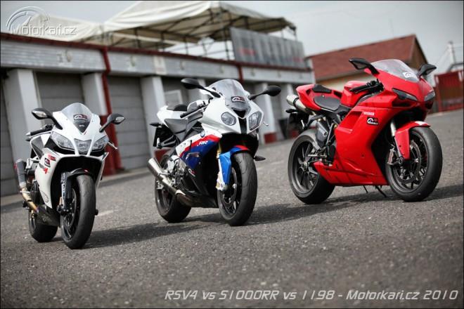 Aprilia RSV4 vs BMW S1000RR vs Ducati 1198