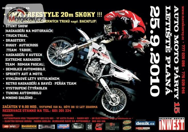 Sout� o 8 VIP vstupenek na Auto-moto party
