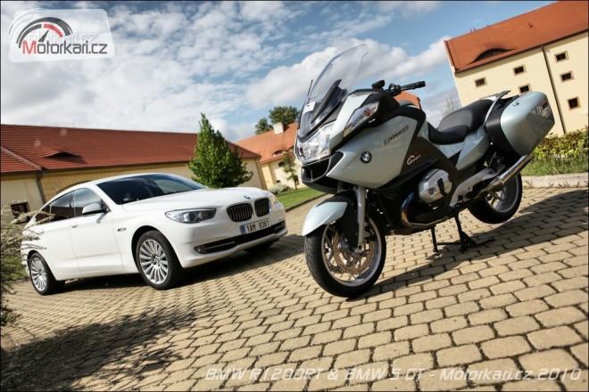 Moto&auto po nìmecku: BMW R1200RT + BMW 5 GT