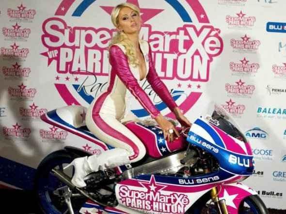 Prezentace týmu celebrity Paris Hilton