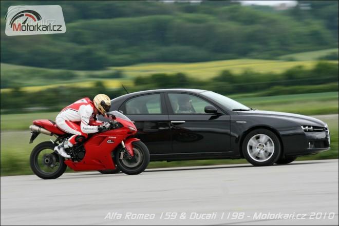 Alfa Romeo 159 1,8 TBi a Ducati 1198
