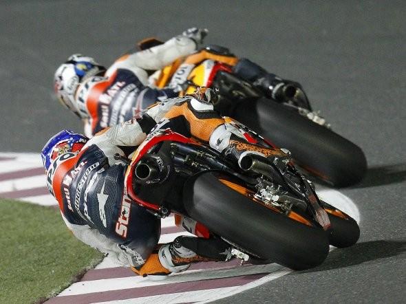 Jezdci MotoGP po Qataru